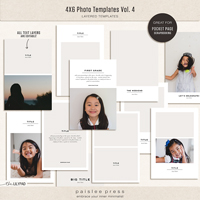 4x6 Photo Templates Vol. 4
