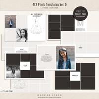 4x6 Photo Templates Vol. 5
