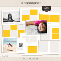 4x6 Photo Templates Vol. 3