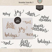 December Faves No. 2 Wordart