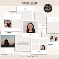 Minimalist Squared (4x4 Photo Templates)
