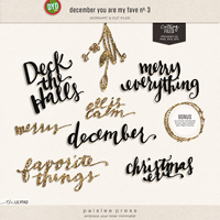 december you are my fave no. 3 (wordart & cut files)