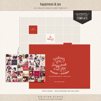 happiness & joy holiday card template