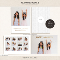 holiday greetings no. 3 | 5x7 Card Template