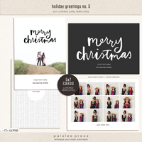 holiday greetings no. 5 | 5x7 Card Template