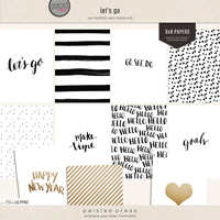 let's go (6x8 papers and overlays)