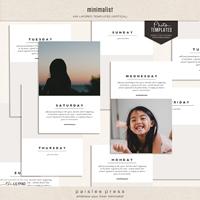 Minimalist (4x6 Photo Templates - Vertical Orientation)