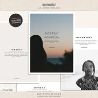 Minimalist (6x8 Photo Templates)