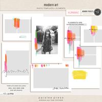modern art | 3x4, 4x4, and 4x6 Photo Templates