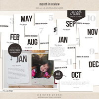 month in review cards