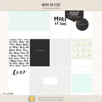 more or less (journal cards)