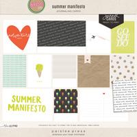 summer manifesto journal cards
