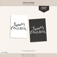 Twenty Fourteen Journal Card
