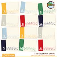 4x6 Calendar Cards