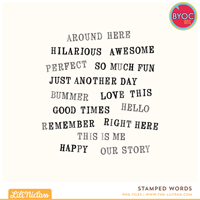 Stamped Words