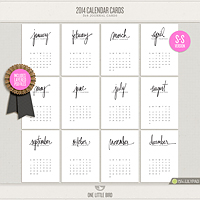 2014 Calendar Cards (S-S Version)