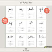 2015 Calendar Cards (S-S Version)