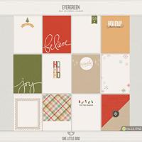 Evergreen Journaling Cards