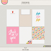 Stuck On You Journaling Cards