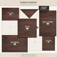 woodgrain journaling cards (layered templates)