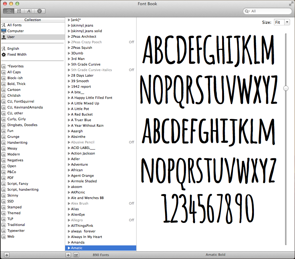 Organize Your Pad: Fonts