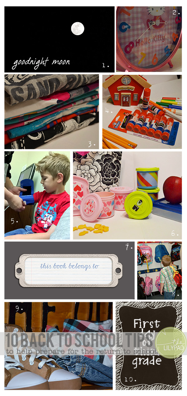 Ten Tips to Prepare for Back to School