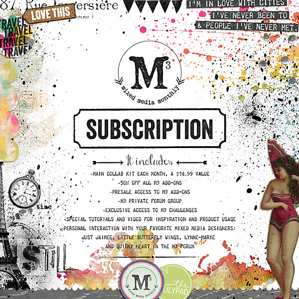 Mixed Media Monthly January 2015 Subscription Information