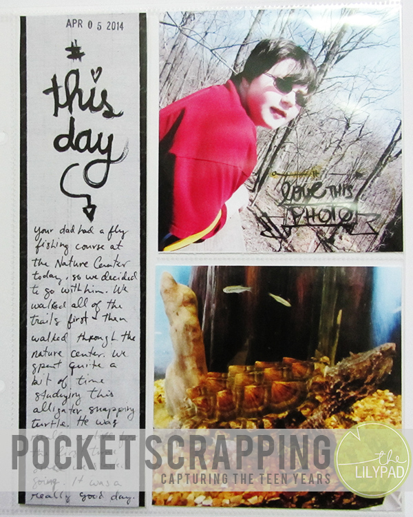 Pocket Scrapping capturing the teen years blog header