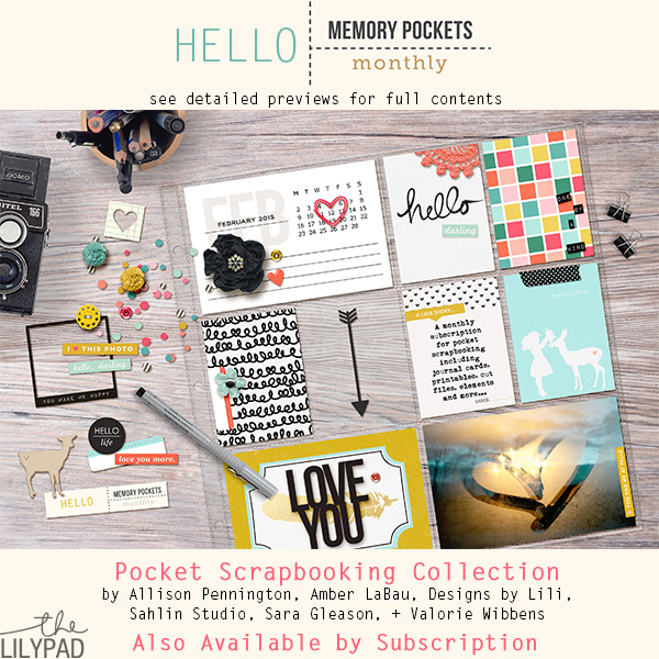 Memory Pockets Monthly February Kit: Hello!