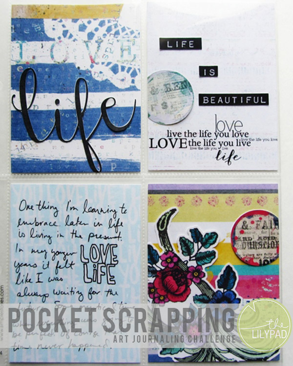 Pocket Scrapping Art Journaling Challenge – April Sponsor