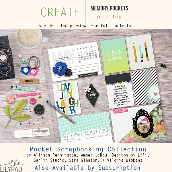 Memory Pockets Monthly May Collection: Create!