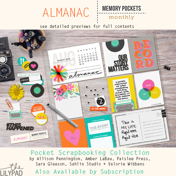 Almanacs Yearbooks: Memory Pockets Monthly August Collection: Alamanc