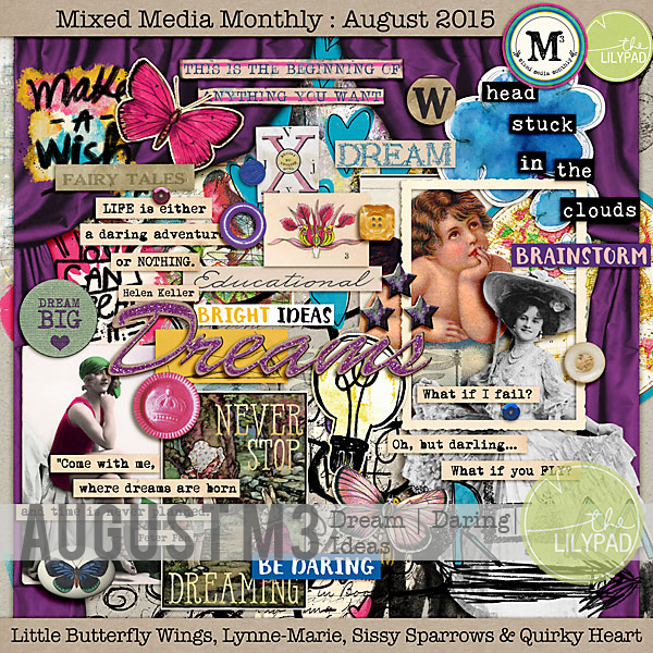 Mixed Media Monthly | Dream, Daring, Ideas