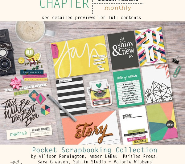 Memory Pockets Monthly January Collection CHAPTER!