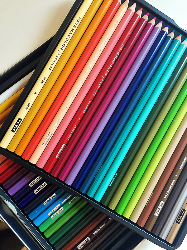 Blending Colored Pencils with Gamsol