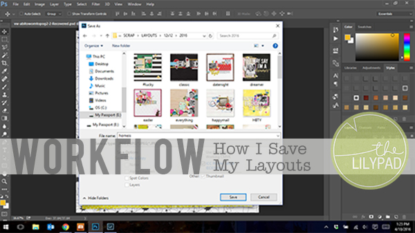 Workflow: How I Save My Layouts