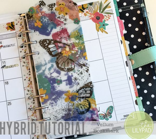 Hybrid Tutorial: Vellum Bookmarks