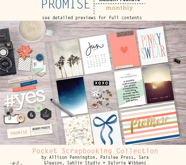 Memory Pockets Monthly June Collection PROMISE