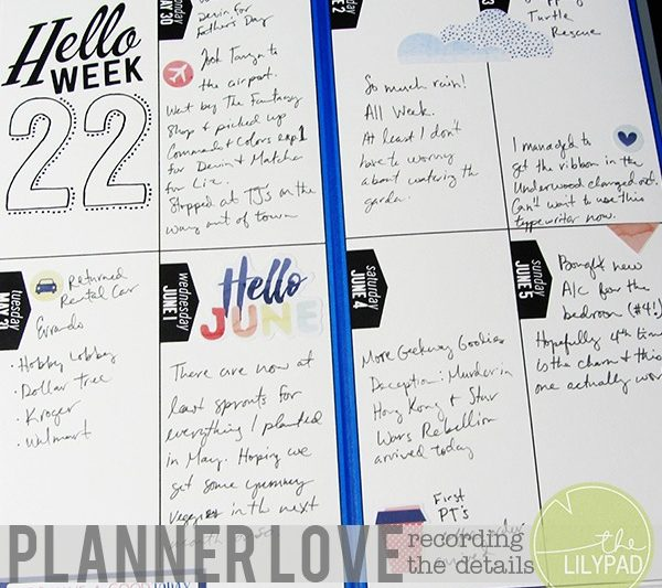 Planner Love: Recording the Details
