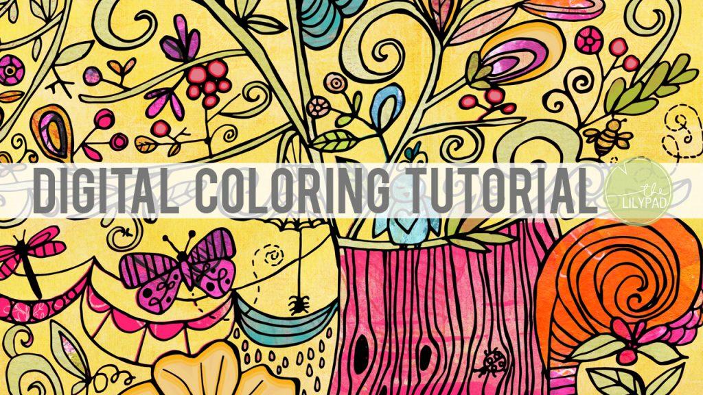 digital coloring tutorial