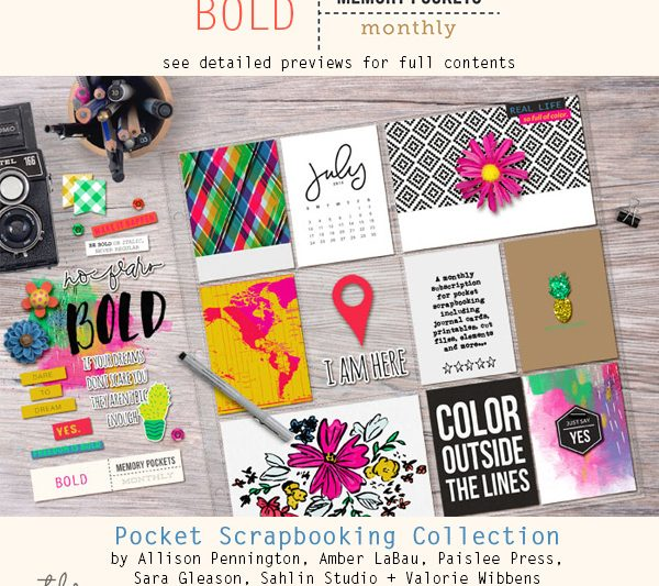 Memory Pockets Monthly July Collection BOLD