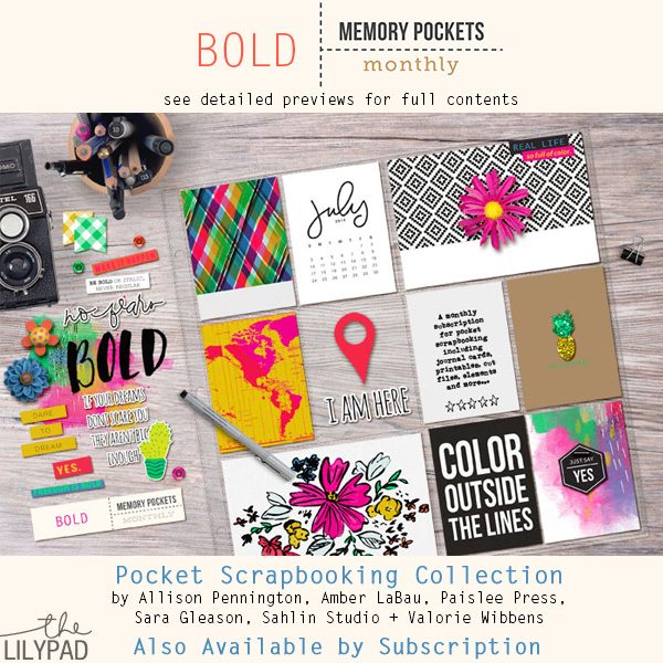 Memory Pockets Monthly July Collection BOLD at the Lilypad