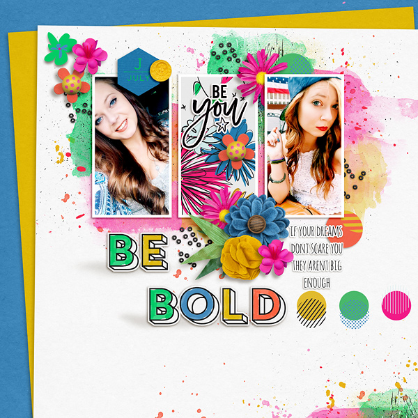 Be Bold by EllenT at the Lilypad using products from the July 2016 MPM collection BOLD