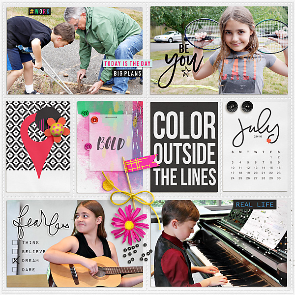 July by Iowan at the Lilypad using products from the Memory Pockets Monthly July 2016 collection BOLD
