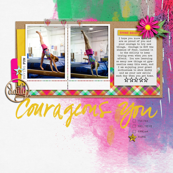 Courageous You by KayTeaPea at the Lilypad using products from the July 2016 MPM collection BOLD