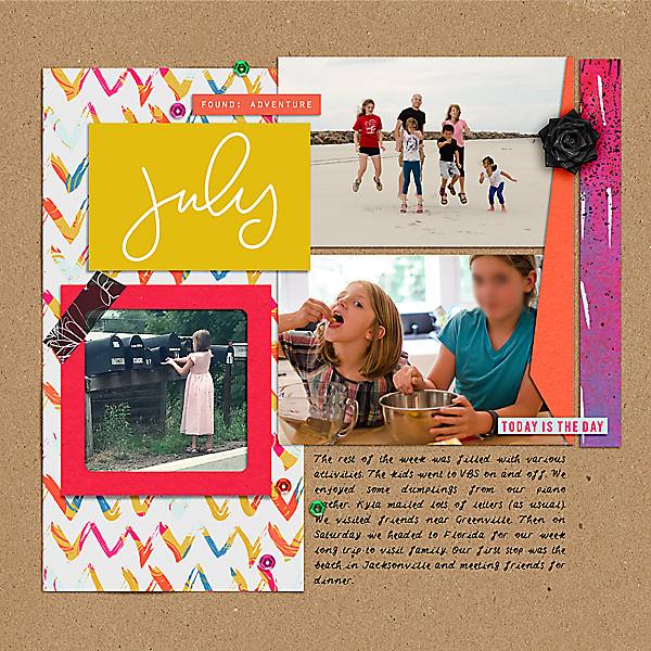Weekly Life Page 26 Right at the Lilypad using products from the Memory Pockets Monthly July 2016 Collection BOLD