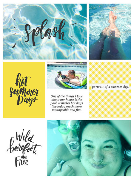 Summer by Wendy Tienken at the Lilypad using products from the Memory Pockets Monthly July 2016 Collection BOLD