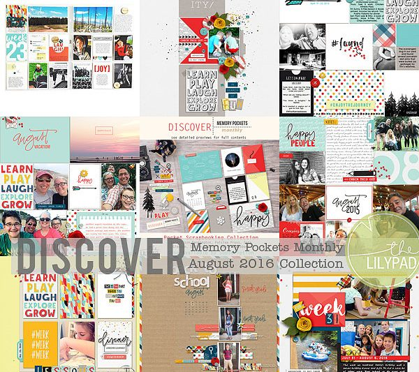 Memory Pockets Monthly August Collection DISCOVER