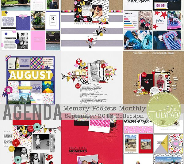 Memory Pockets Monthly September Collection AGENDA