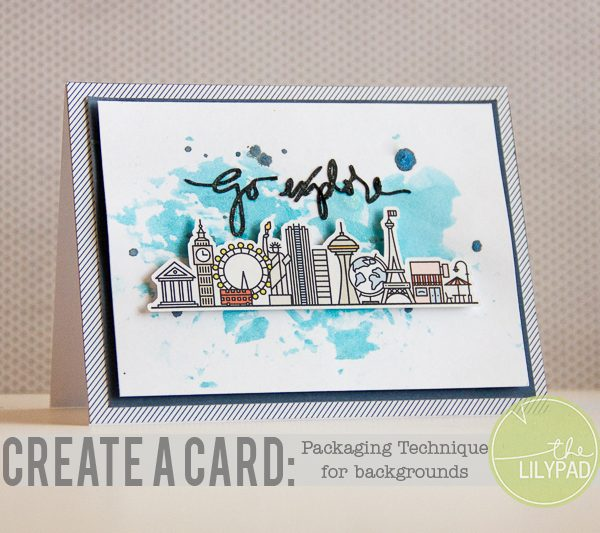 Create a Card: Packaging Technique for Backgrounds